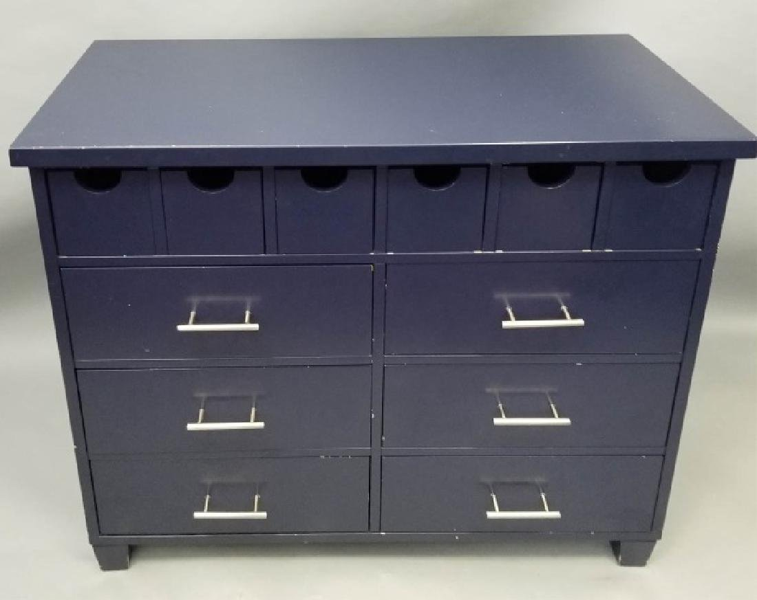 Pottery Barn Navy Blue Contemporary Dresser - 3