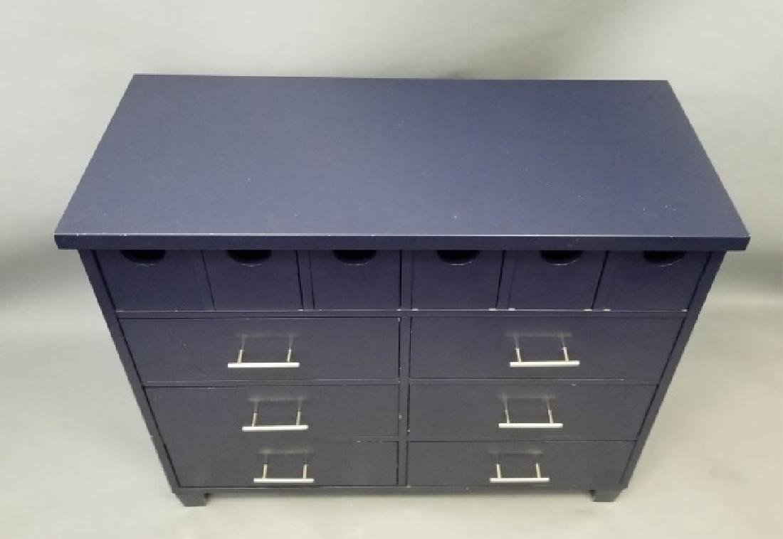 Pottery Barn Navy Blue Contemporary Dresser - 4