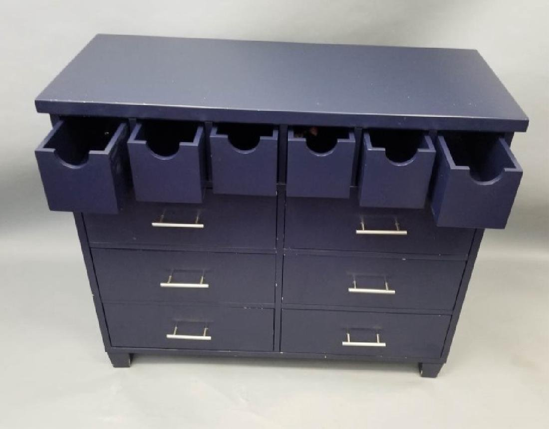 Pottery Barn Navy Blue Contemporary Dresser - 6