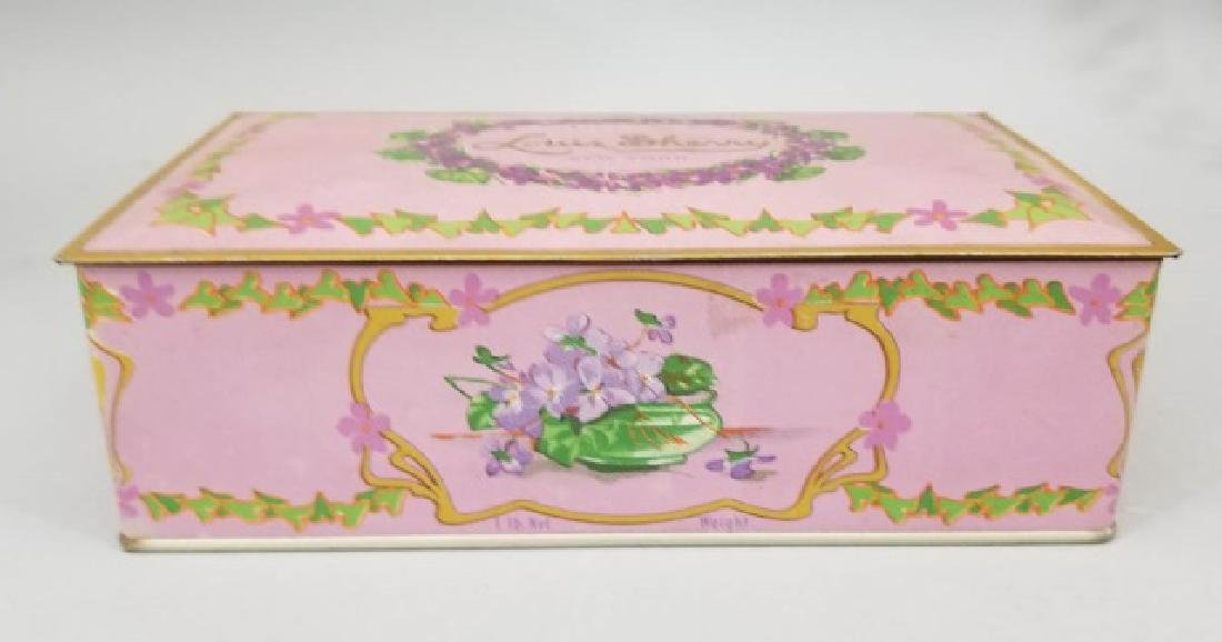 Duo of Antique Colorful Tin Boxes - 2