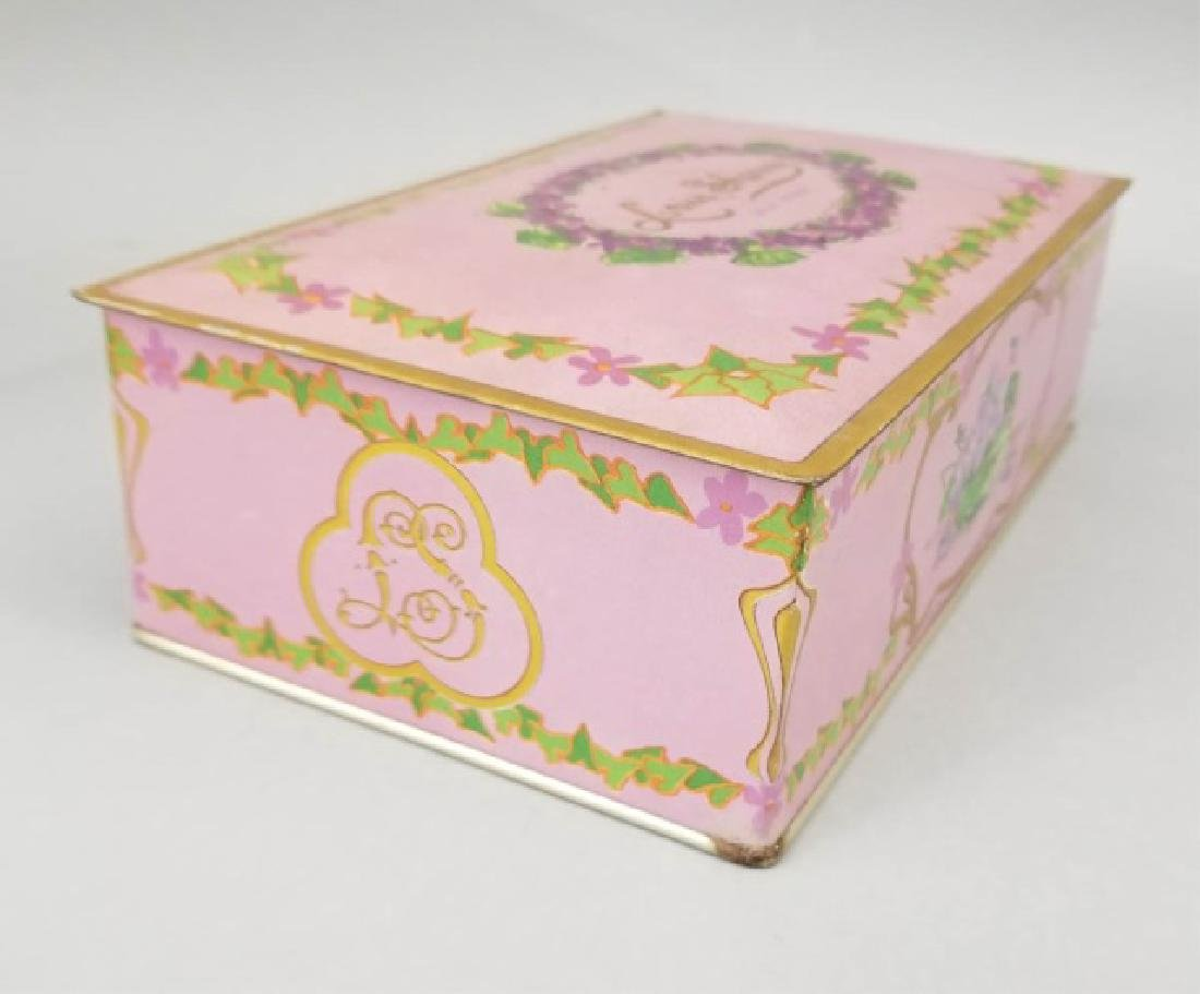 Duo of Antique Colorful Tin Boxes - 5