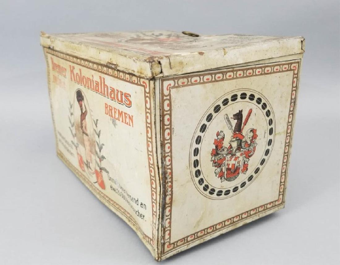 Duo of Antique Colorful Tin Boxes - 9
