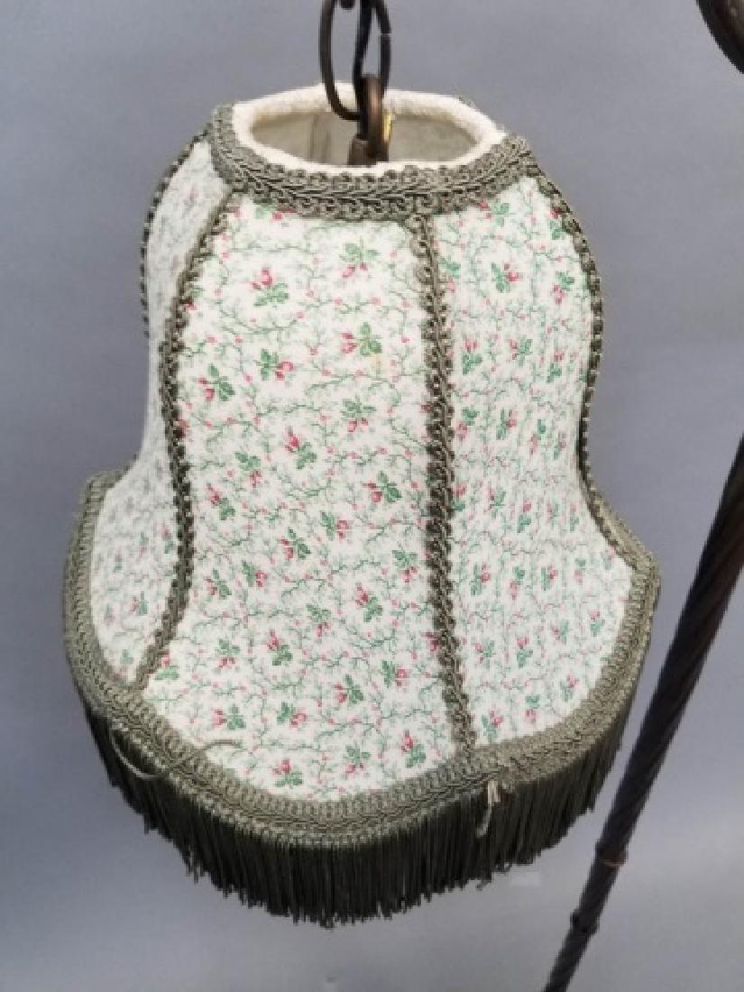 Victorian Design Floor Lamp wGlass & Fringe Shade - 3