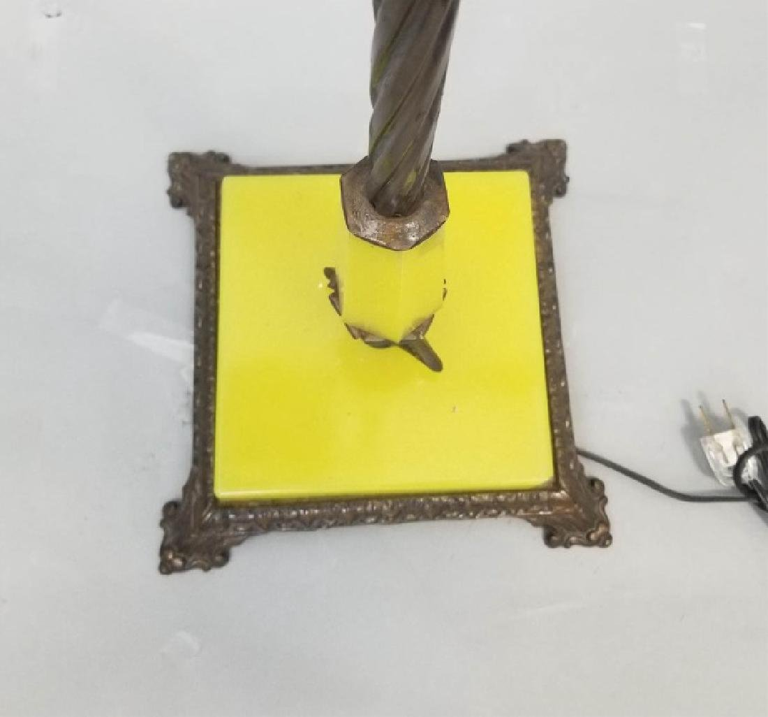 Victorian Design Floor Lamp wGlass & Fringe Shade - 5