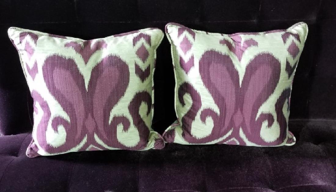 Custom Made Design Plum Mohair Velvet Sofa - 2