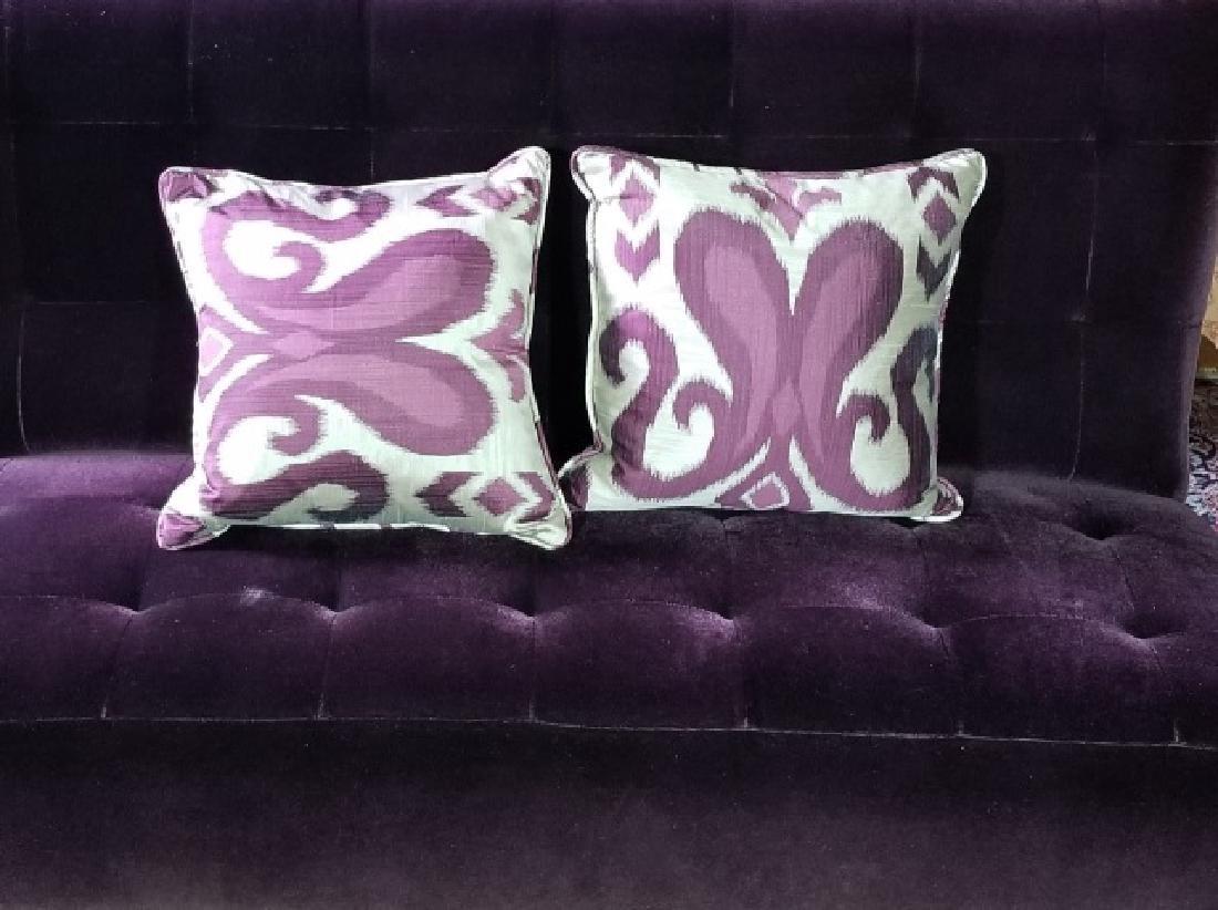 Custom Made Design Plum Mohair Velvet Sofa - 3