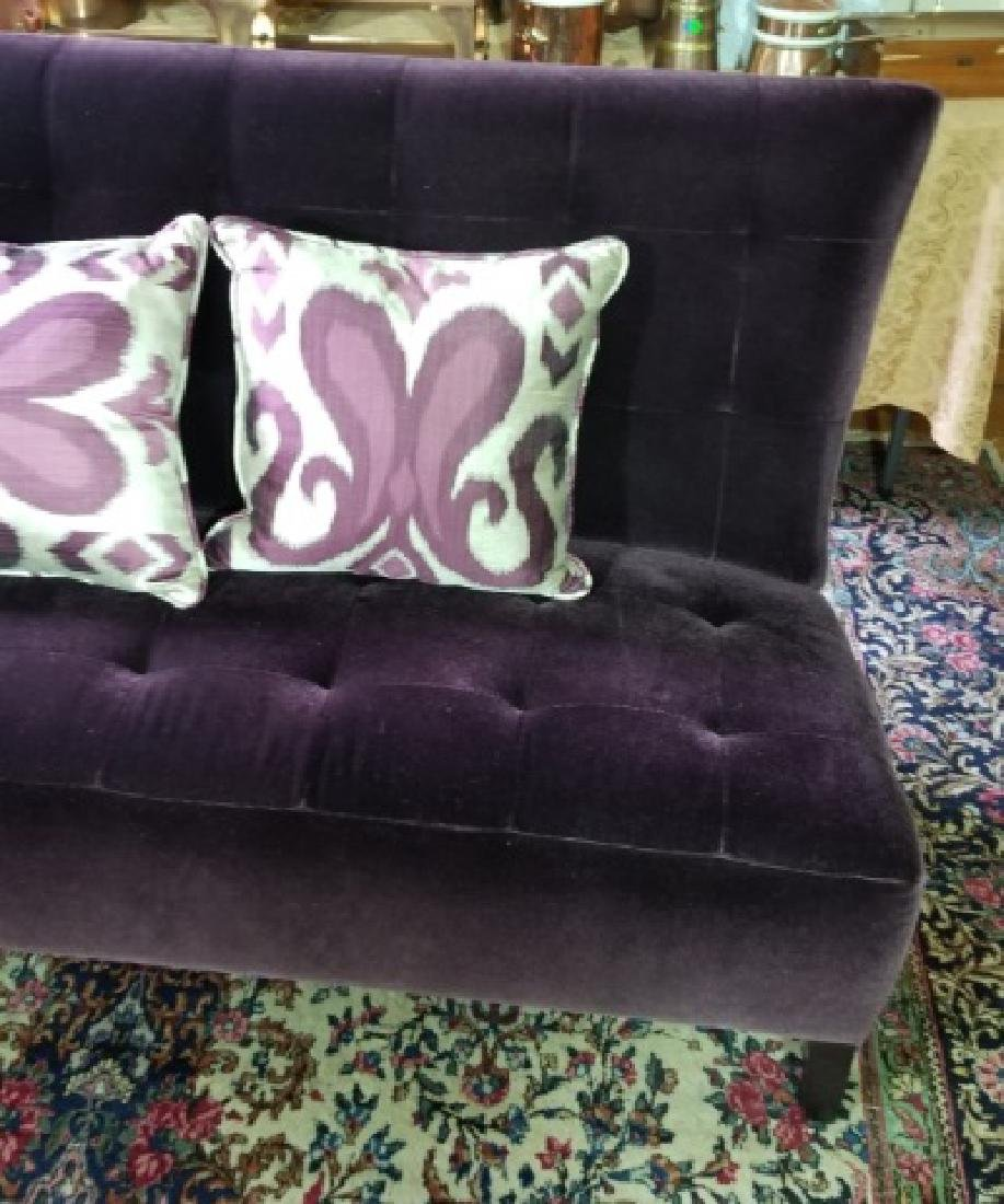 Custom Made Design Plum Mohair Velvet Sofa - 4