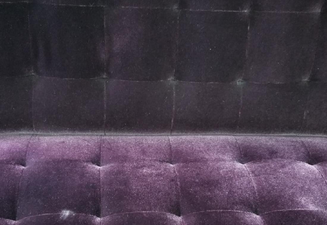 Custom Made Design Plum Mohair Velvet Sofa - 6