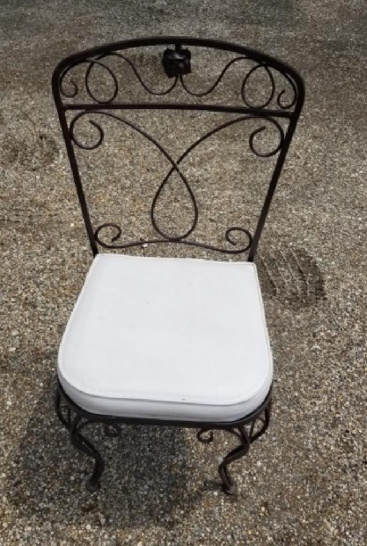4 Vintage Outdoor / Patio Wrought Iron Side Chairs - 4