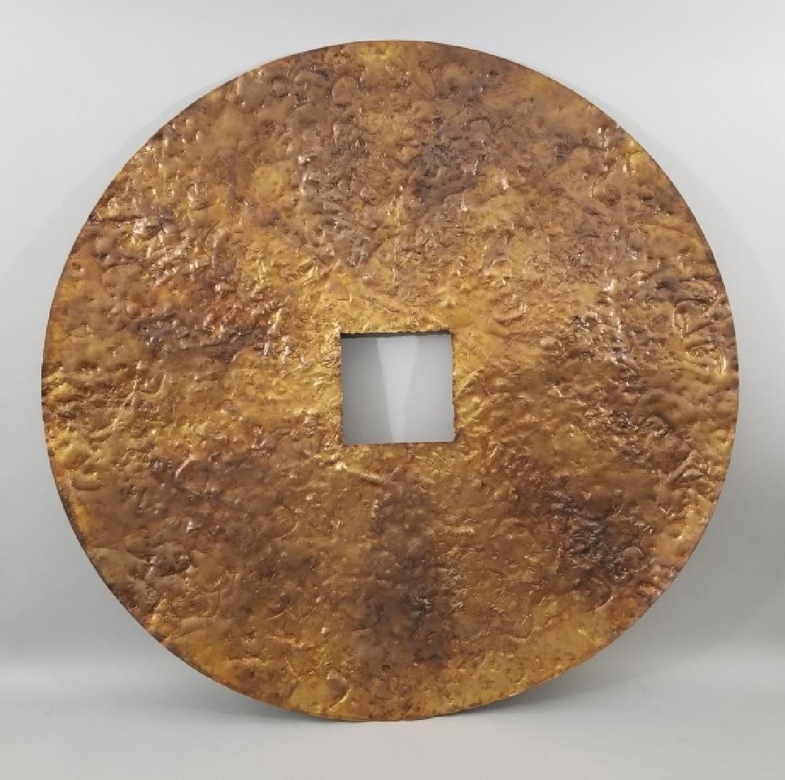 Clodagh Beaten Copper Wall Mount Bi Disk Art