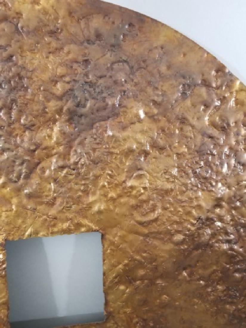 Clodagh Beaten Copper Wall Mount Bi Disk Art - 4