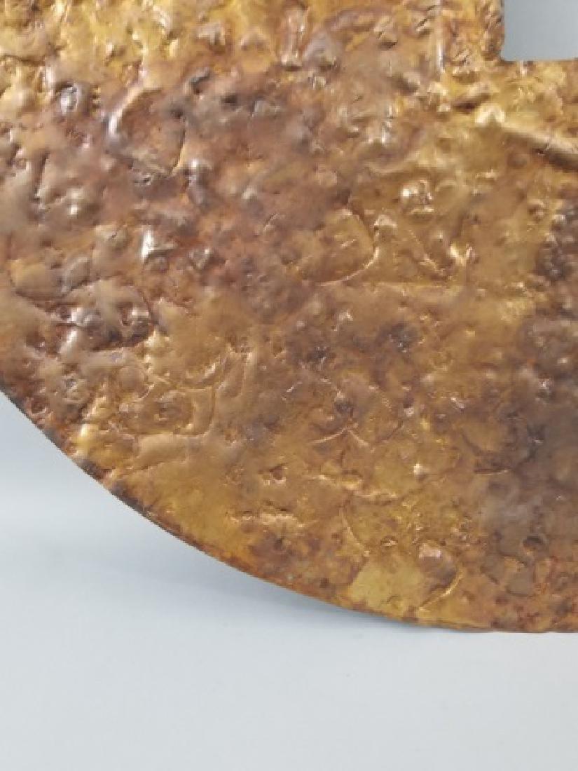 Clodagh Beaten Copper Wall Mount Bi Disk Art - 6