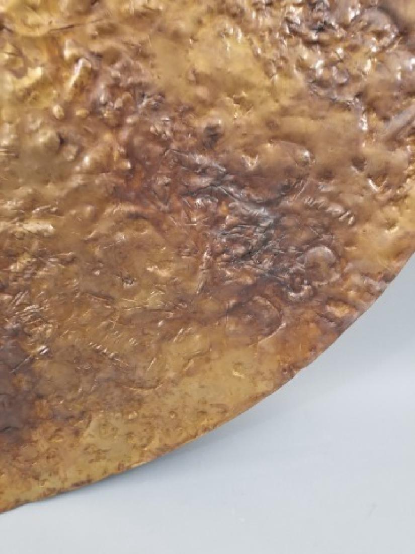 Clodagh Beaten Copper Wall Mount Bi Disk Art - 7