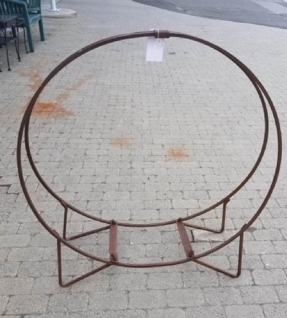 Iron Outdoor Firewood Stacking Hoop