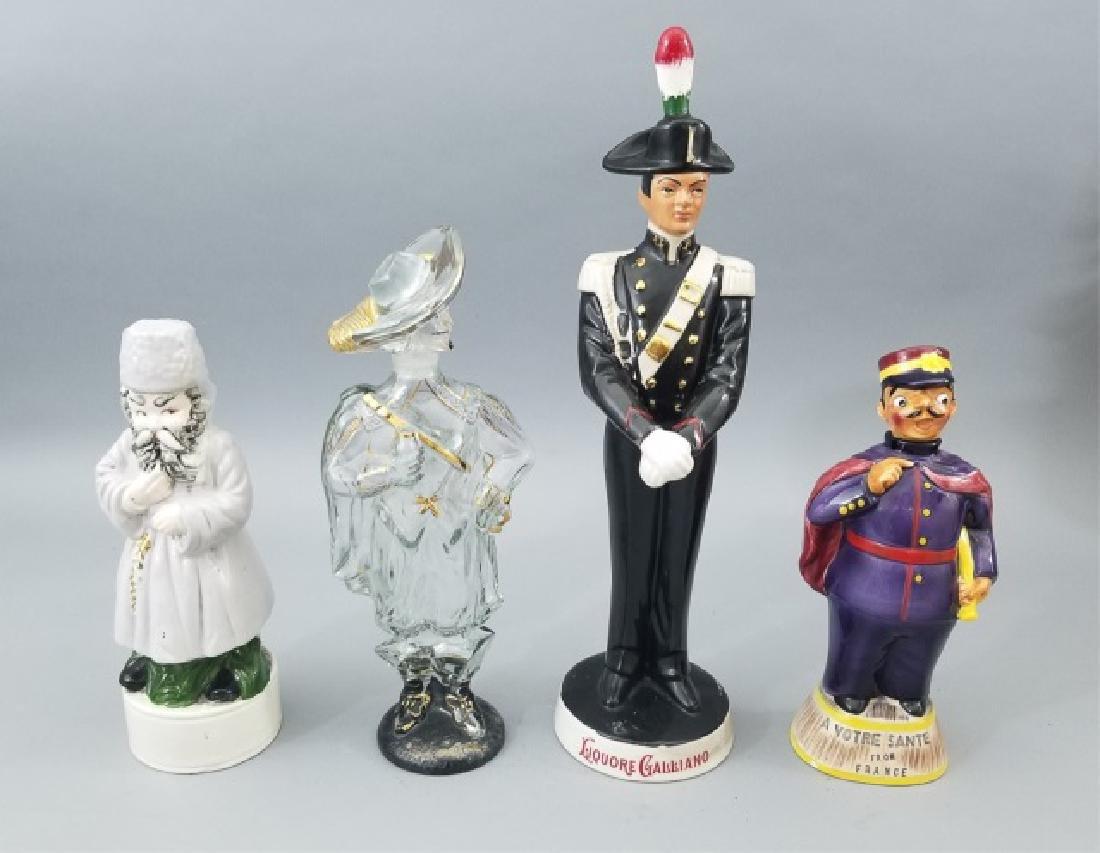 4 Ceramic & Glass Bottle Figurines Incl. Music Box