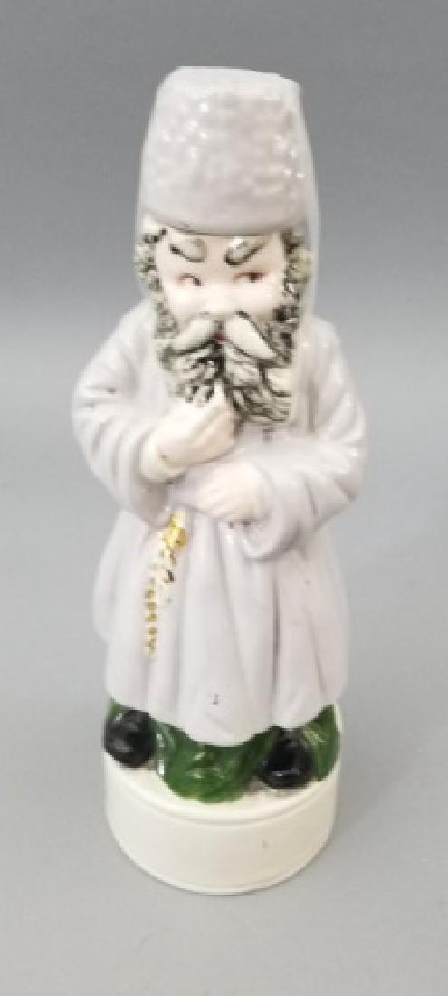 4 Ceramic & Glass Bottle Figurines Incl. Music Box - 9