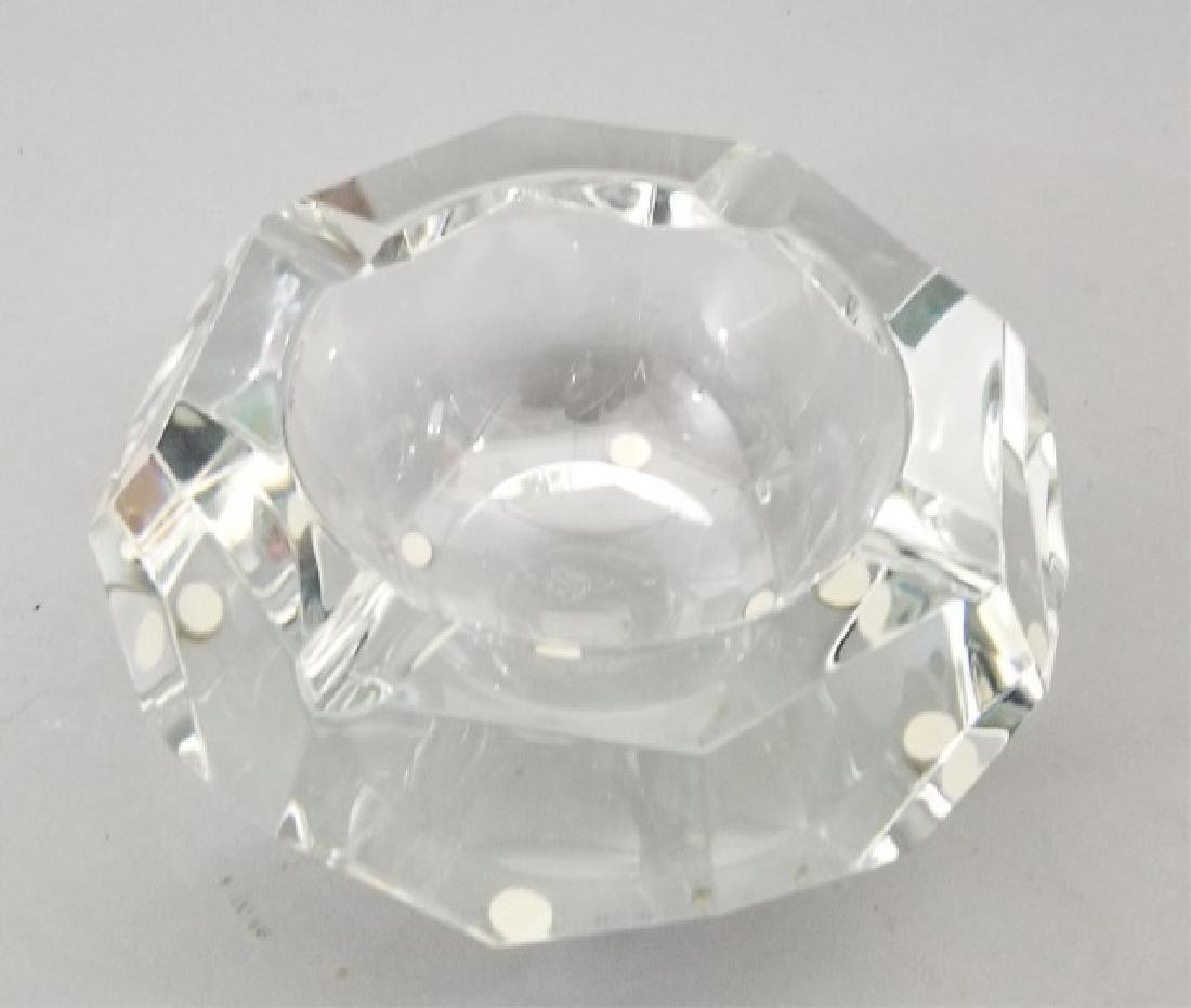 Baccarat France Cut Crystal Faceted Dish