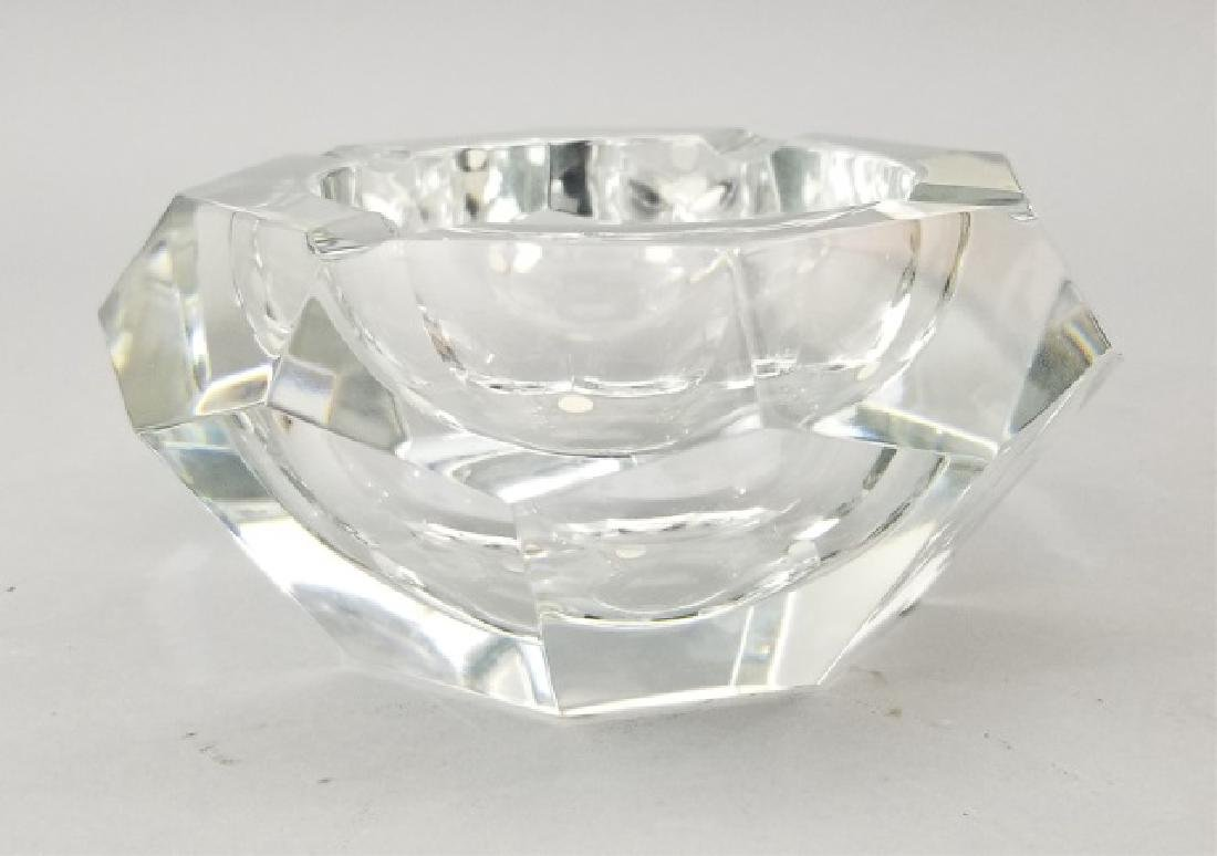 Baccarat France Cut Crystal Faceted Dish - 2