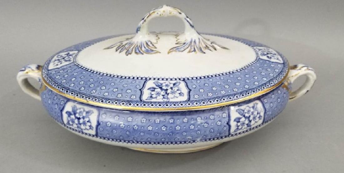 Partial Porcelain Blue & White Service by Tillson - 10