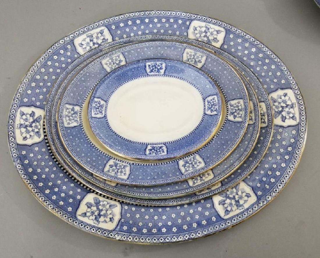 Partial Porcelain Blue & White Service by Tillson - 5