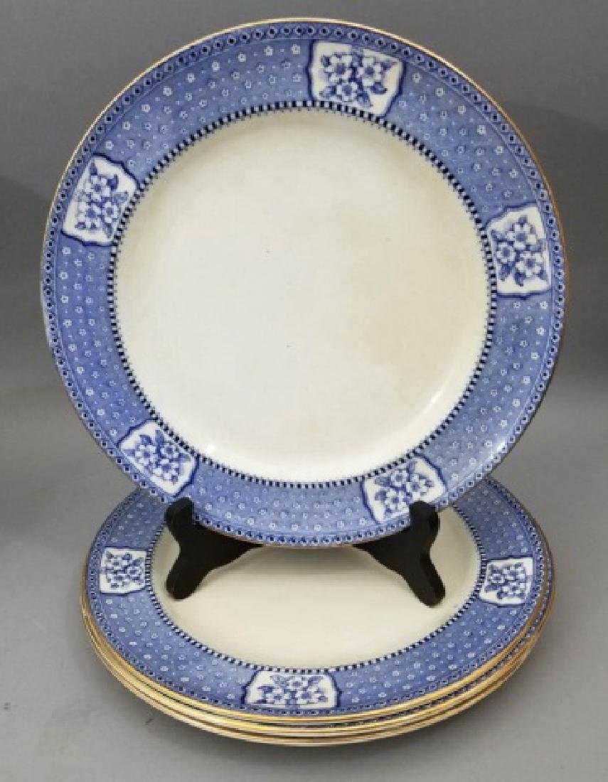 Partial Porcelain Blue & White Service by Tillson - 6