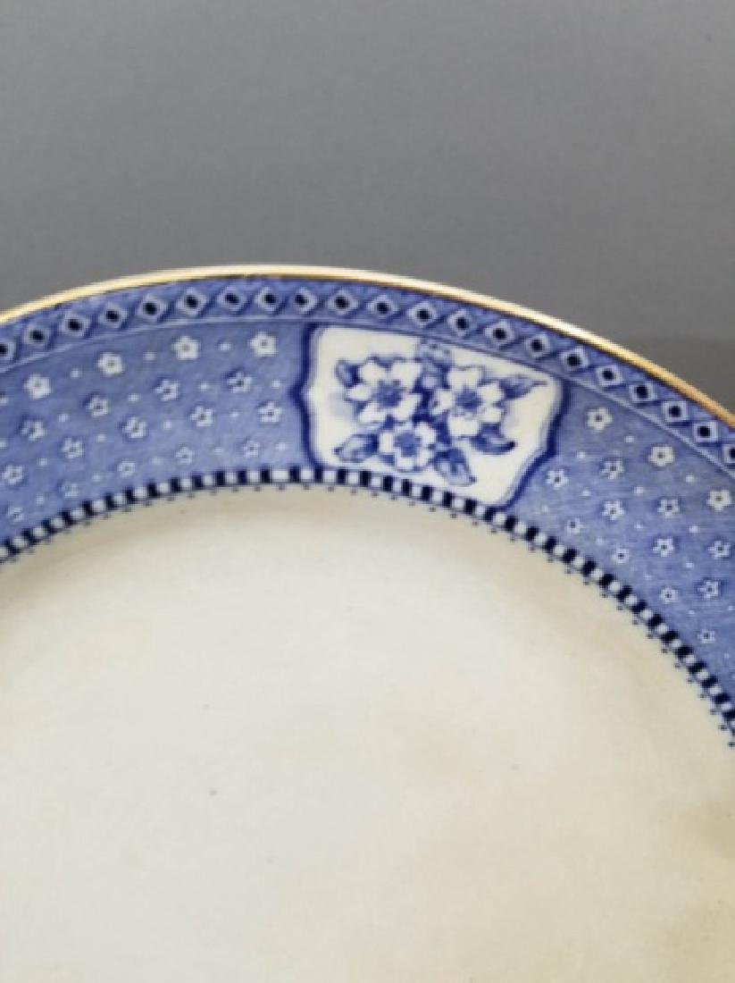 Partial Porcelain Blue & White Service by Tillson - 7