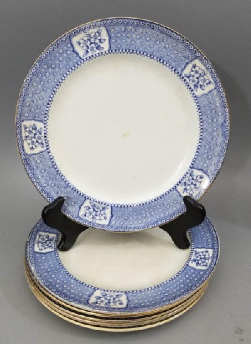 Partial Porcelain Blue & White Service by Tillson - 8
