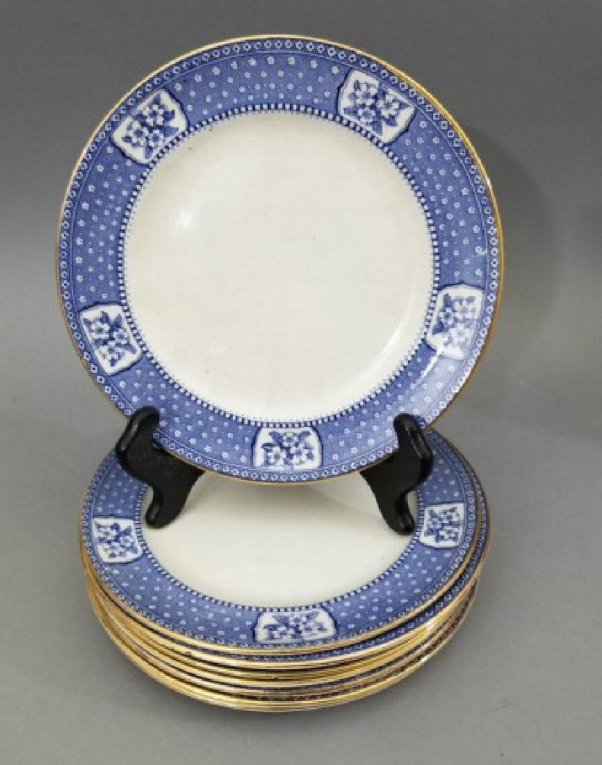 Partial Porcelain Blue & White Service by Tillson - 9