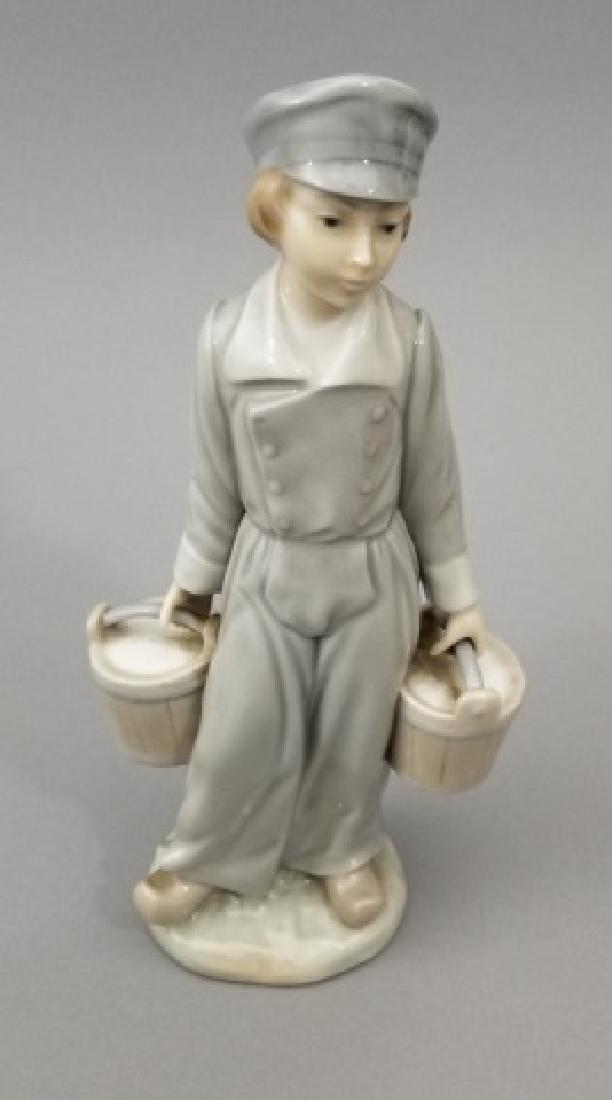 Lladro Figurines, Two Mini Tea Sets & Candle - 2