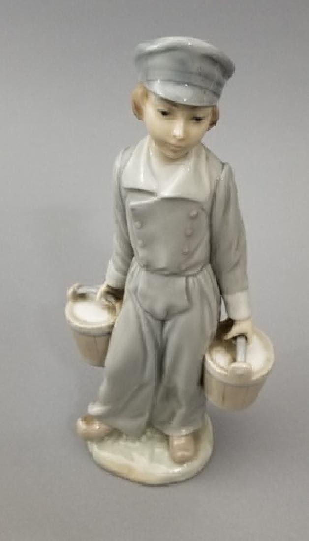 Lladro Figurines, Two Mini Tea Sets & Candle - 3