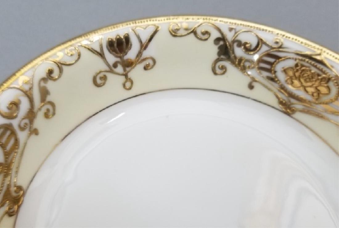 White & Gold Hand Painted Noritake Porcelain - 5