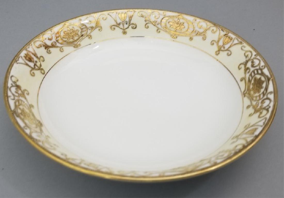 White & Gold Hand Painted Noritake Porcelain - 7