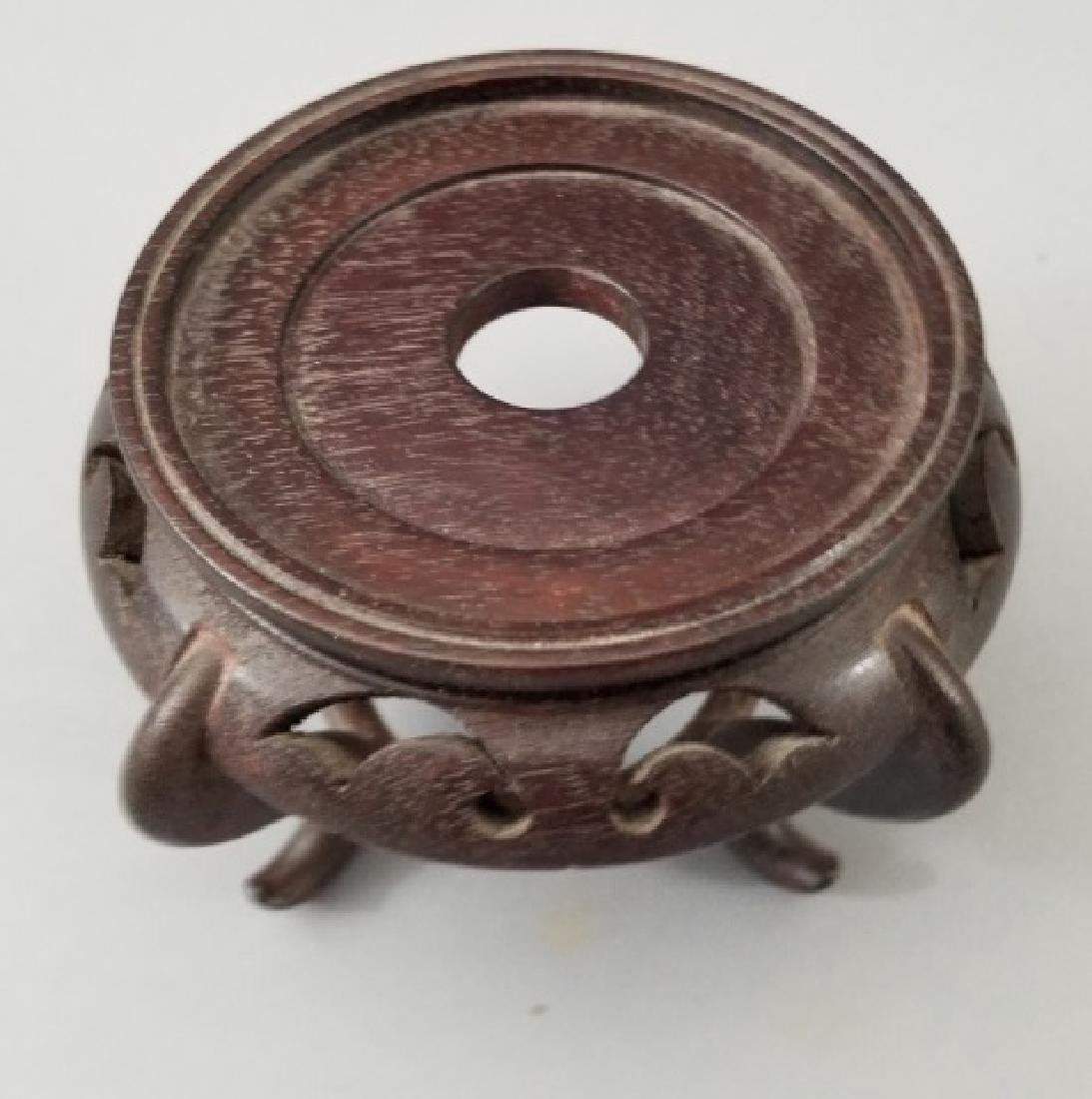 3 Carved Wood Chinese Bases for Display - 5