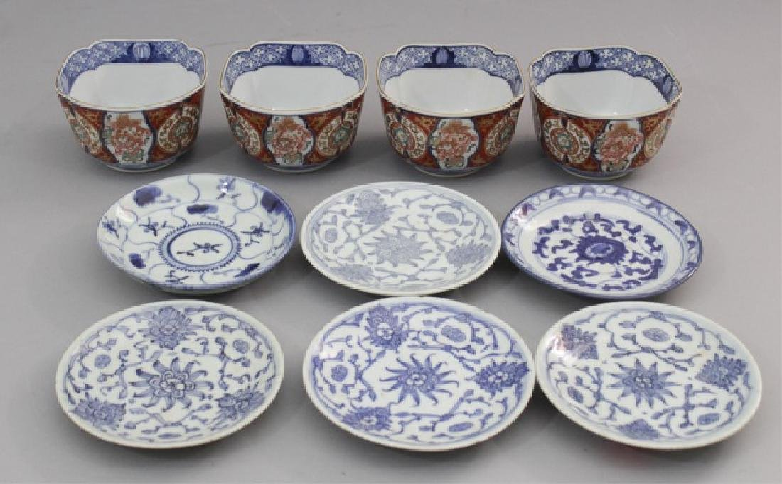 10 Pieces of Chinese Porcelain - Cloisonne Bowls