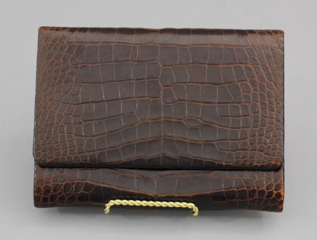 Group of 3 Leather / Reptile Ladies' Clutch Bags - 8
