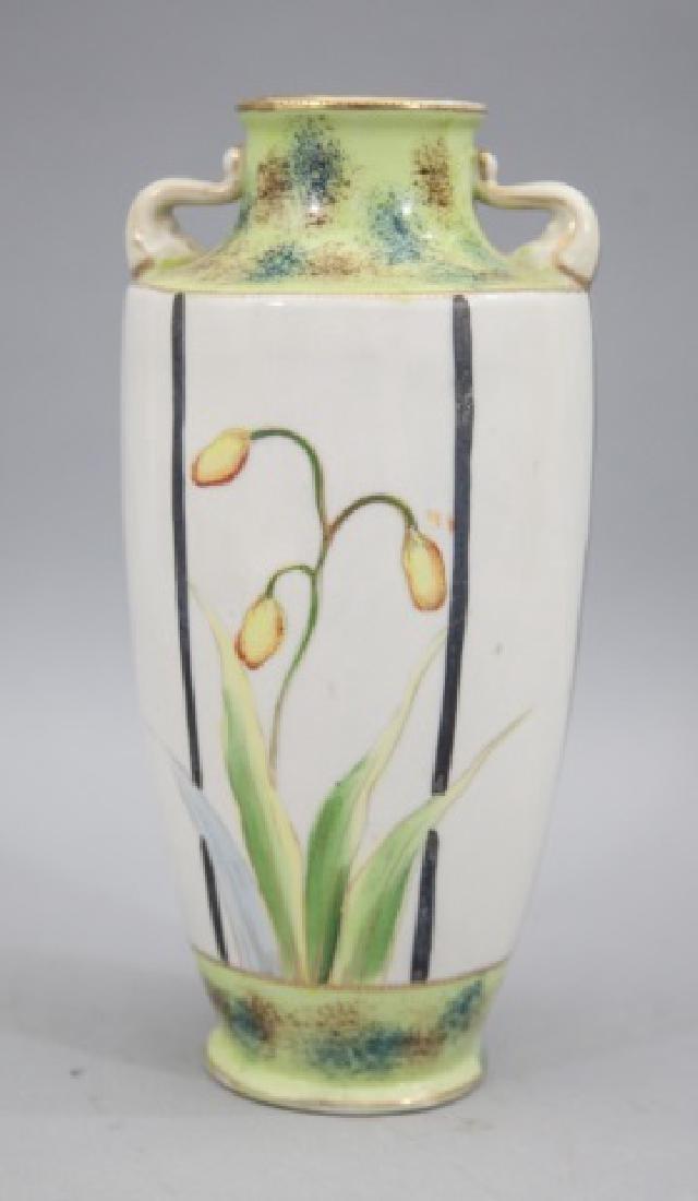 Vintage Painted Urn/Vase with Handles & Daffodils - 3