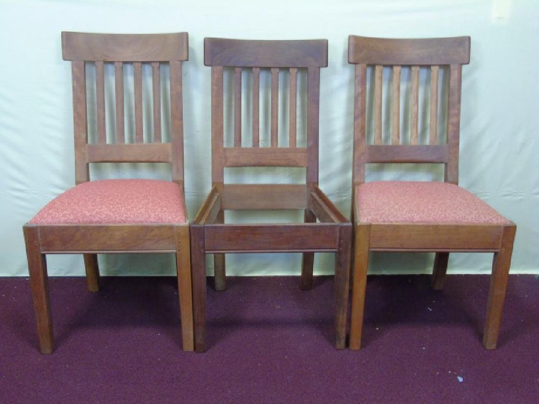 Three Gustave Stickley Style Mission Chairs