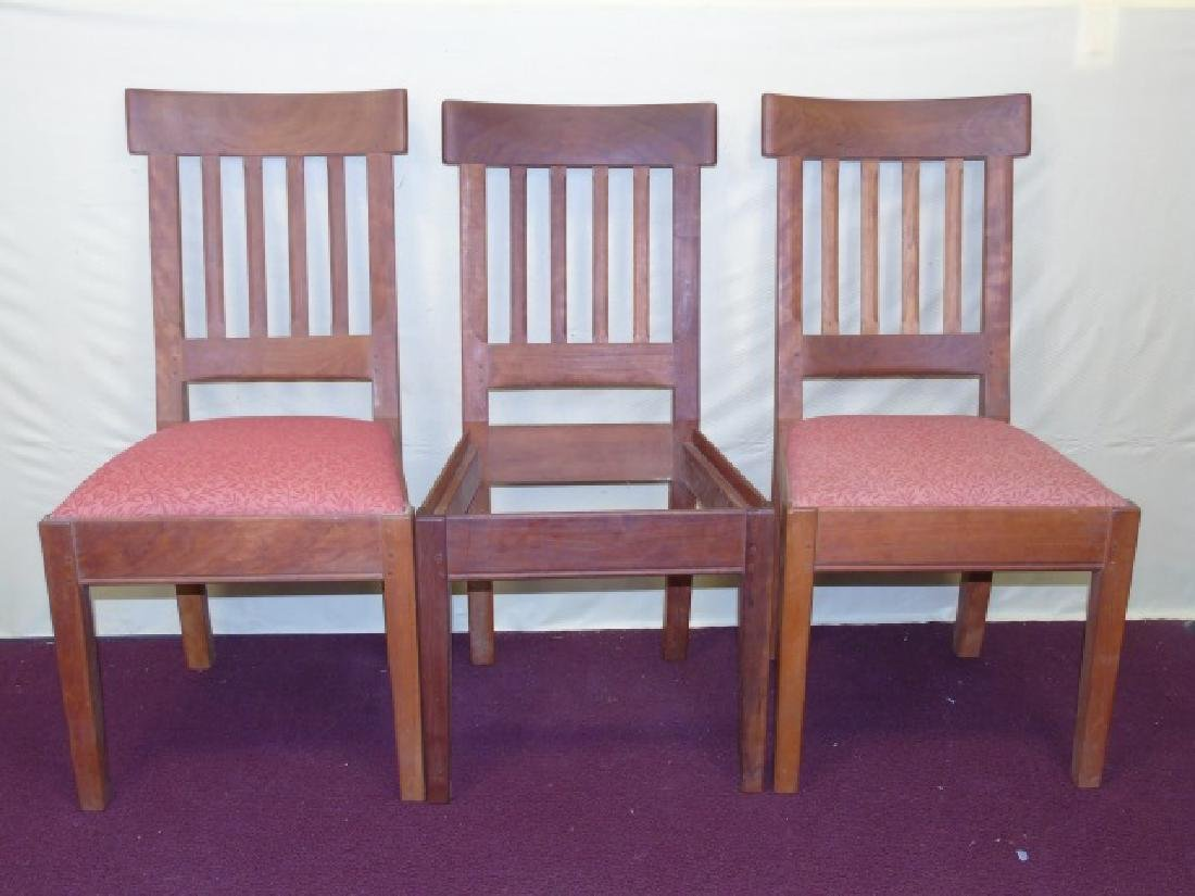 Three Gustave Stickley Style Mission Chairs - 2
