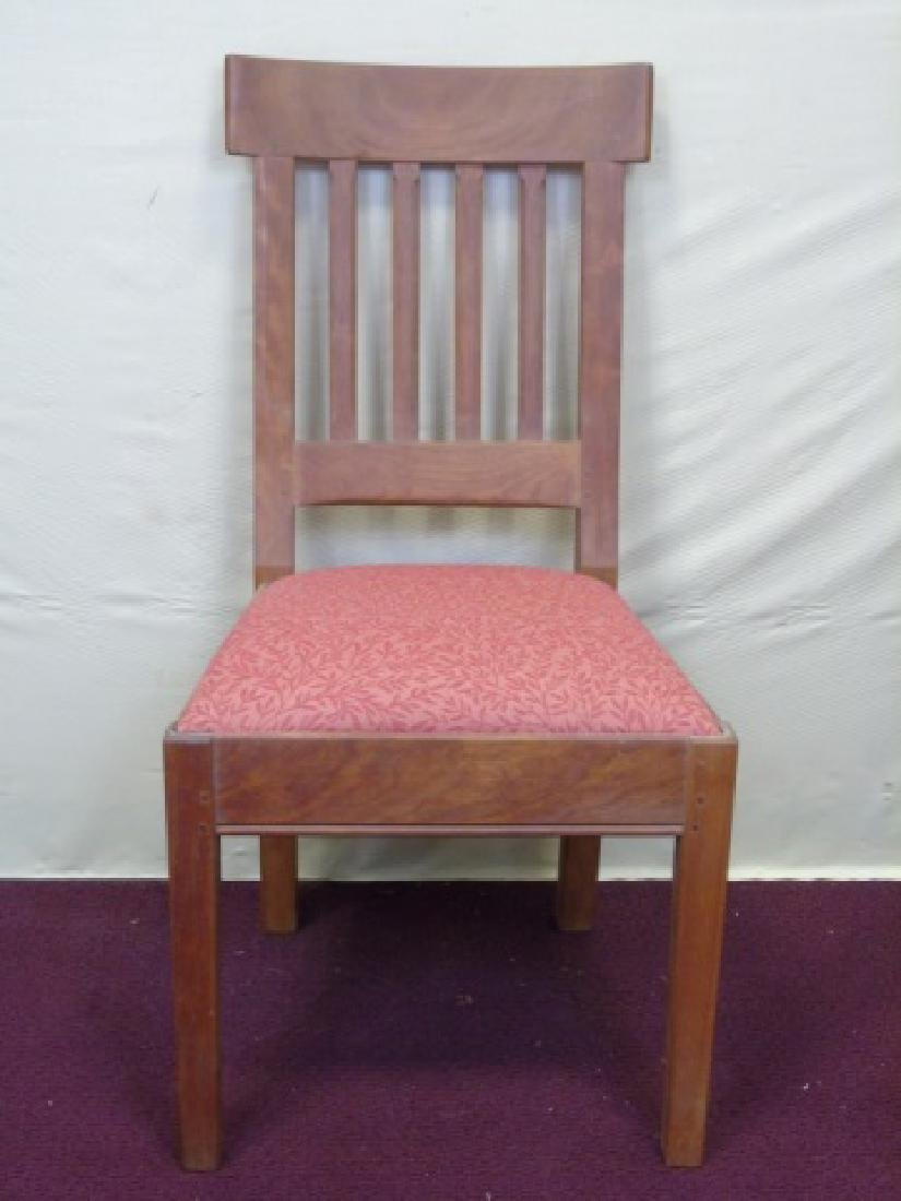 Three Gustave Stickley Style Mission Chairs - 4