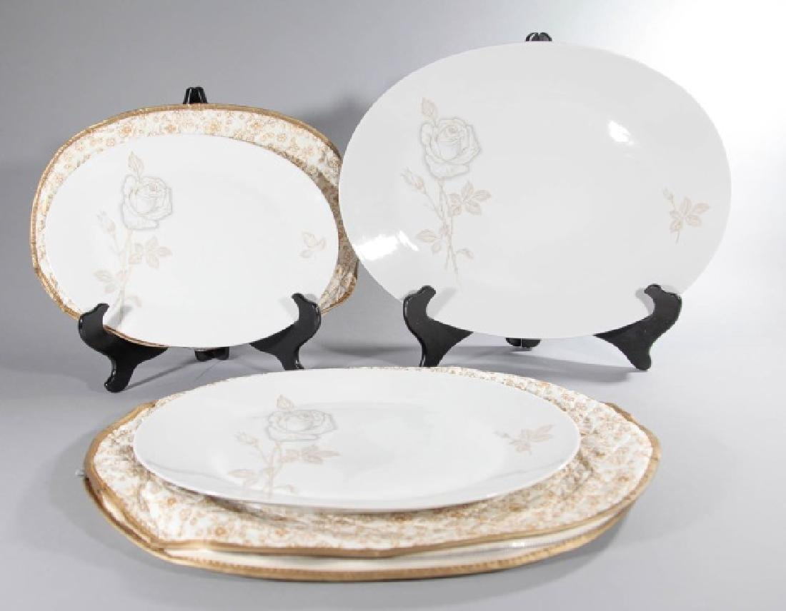 3 Rosenthal-Germany Oval Platters Classic Rose