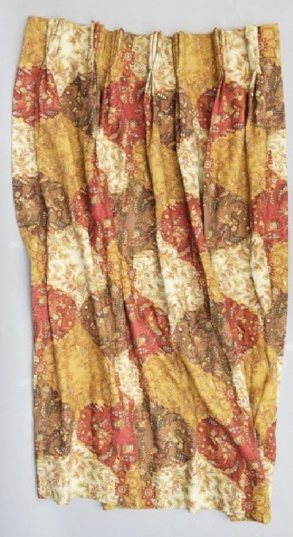 2 Pair Patch Paisley Style Floral Curtain Panel