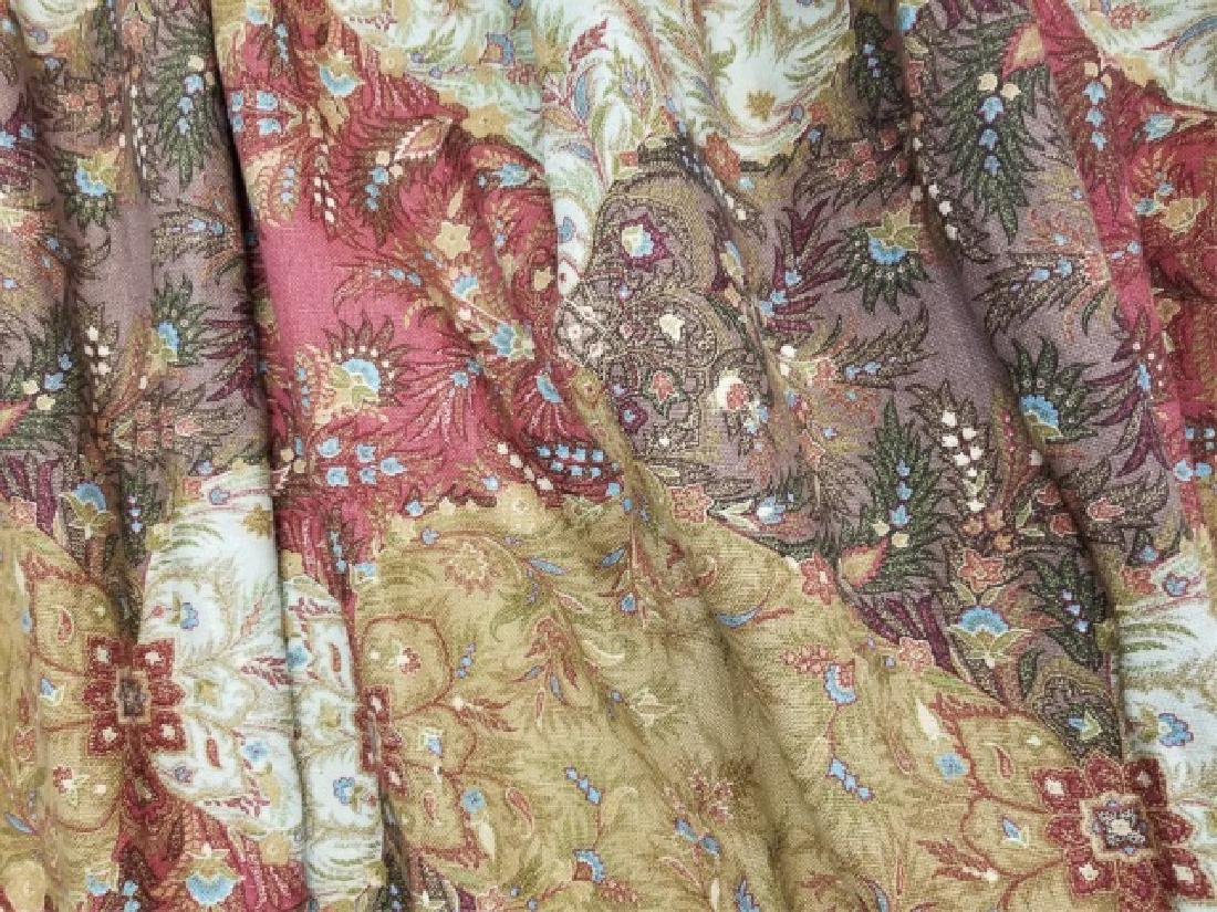 2 Pair Patch Paisley Style Floral Curtain Panel - 4