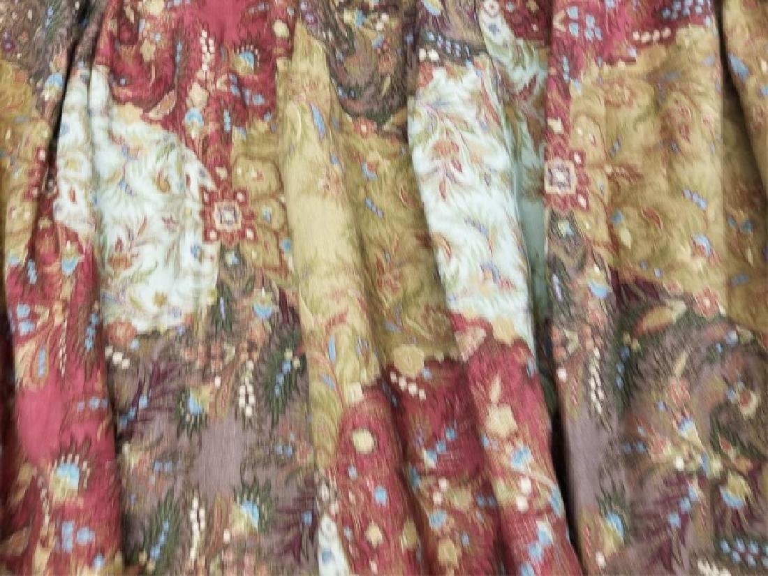 2 Pair Patch Paisley Style Floral Curtain Panel - 5