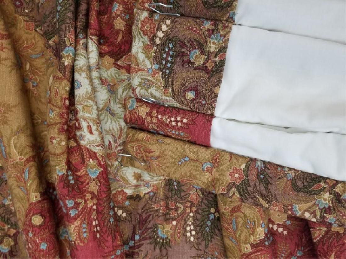 2 Pair Patch Paisley Style Floral Curtain Panel - 6