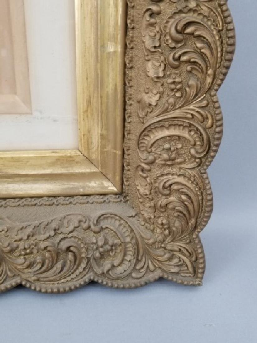 Antique Photograph of Woman in Heavy Gold Frame - 3