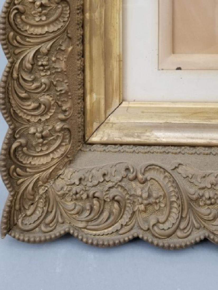 Antique Photograph of Woman in Heavy Gold Frame - 4