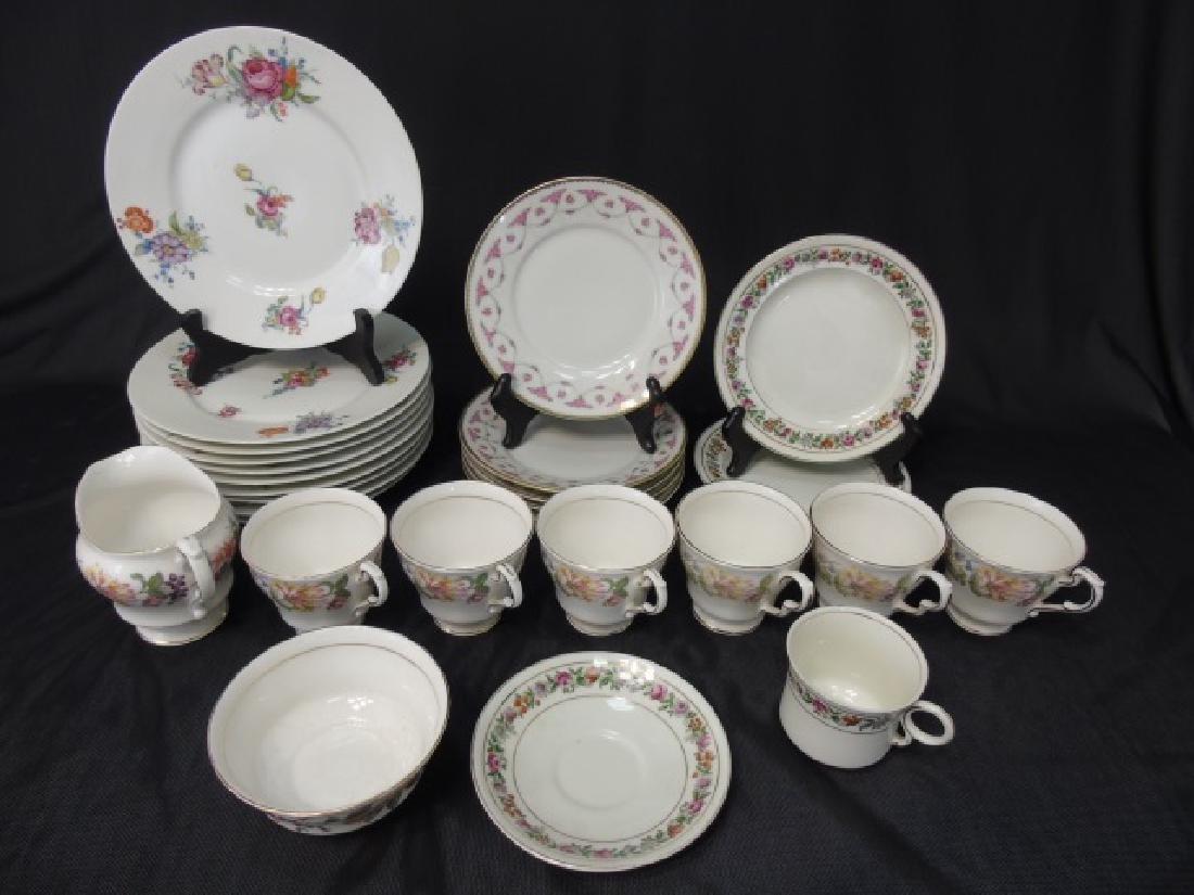 Assorted Limoges & English Porcelain Plates Etc