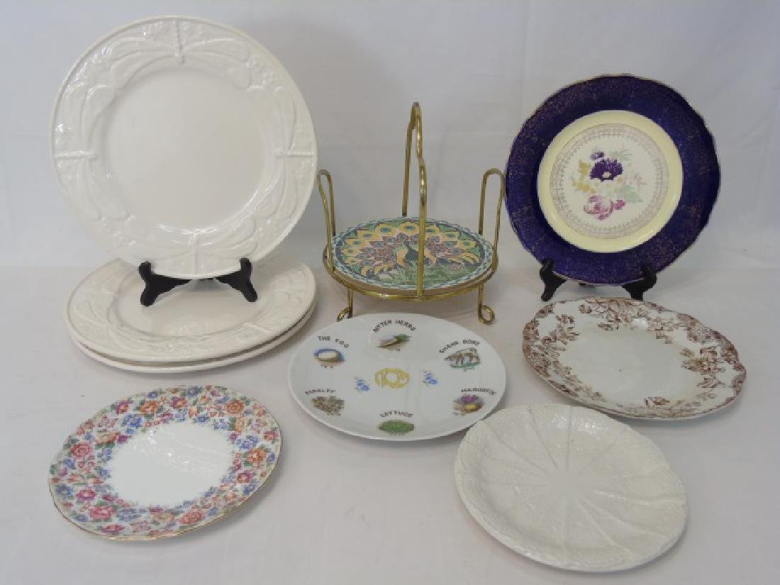 8 Assorted Plates and Harrod's Plate Stacker