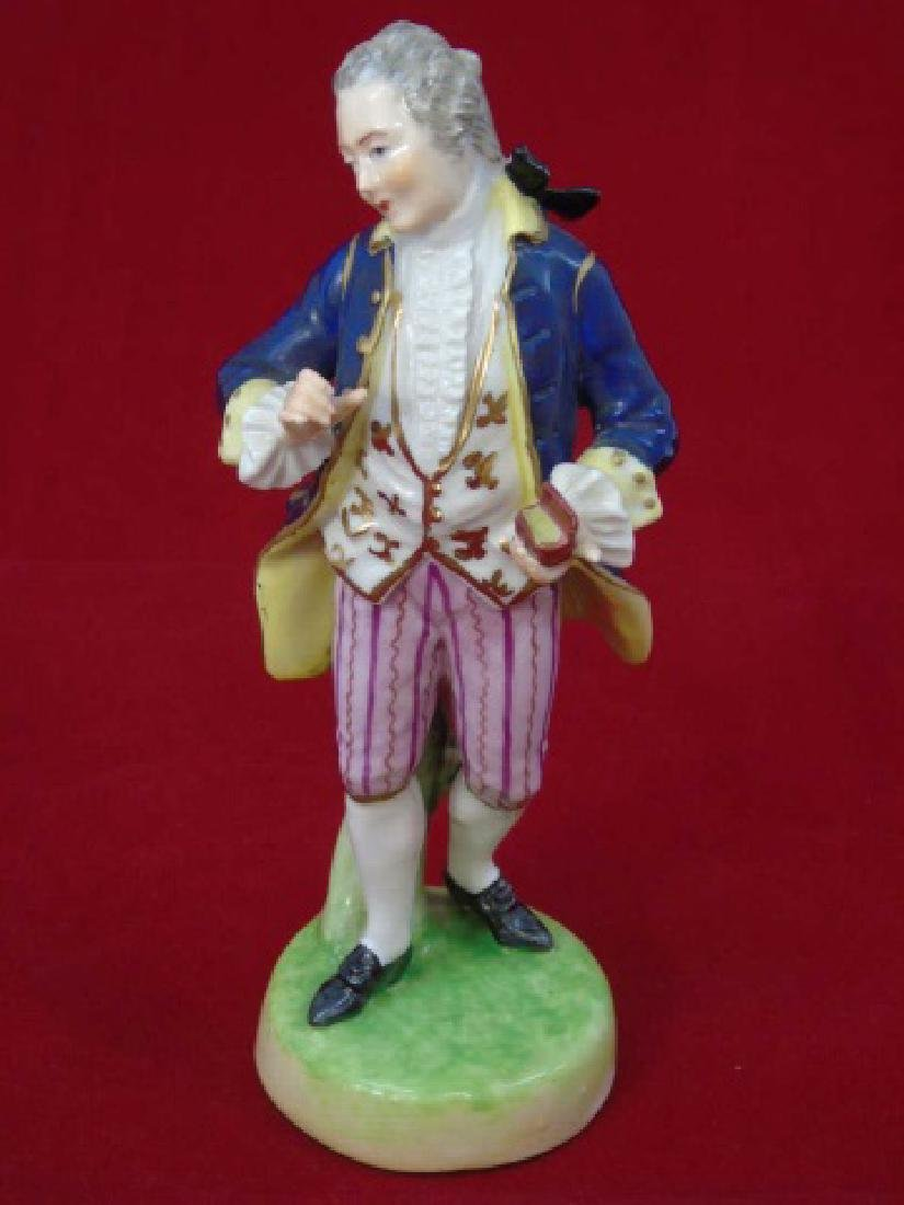 Antique Capodimonte Porcelain Statue of Man w Box