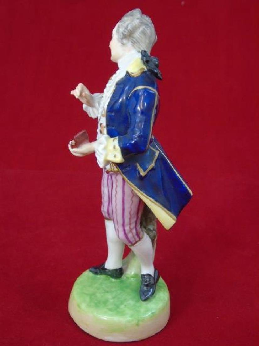 Antique Capodimonte Porcelain Statue of Man w Box - 3